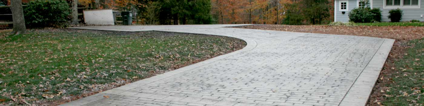 Stamped Concrete driveway showing color and pattern detail Photo by M&F